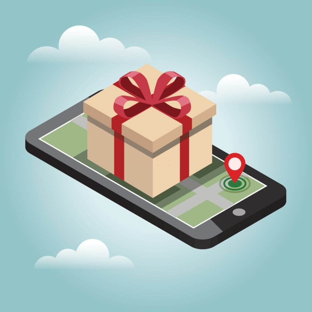 Online mobile shop store sale delivery shopping concept