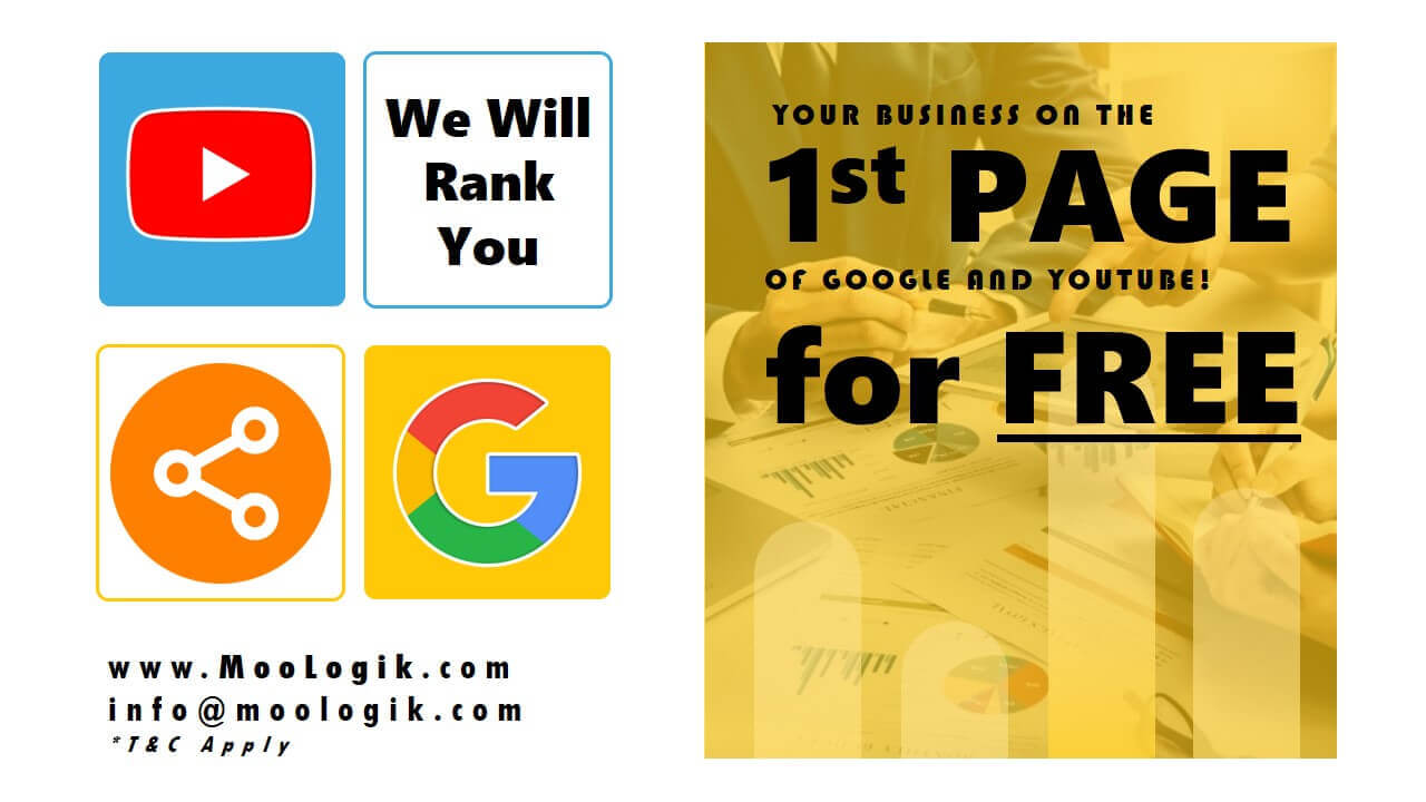MooLogik Ranking Your Business in the 1st Page of Google and Youtube